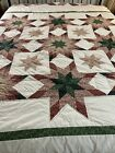Vintage+Hand+Quilted+Touching+Blazing+Star+Quilt+100x94+king+%23149