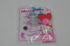 2018 Hello Kitty McDonald's Toy Clip with Nametag #6 NEW SEALED