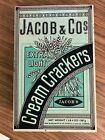 VINTAGE JACOB & CO CREAM CRACKERS COLLECTIBLE TIN