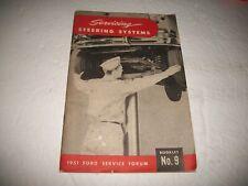 1951 Ford Passenger Car Service Forum SERVICING STEERING SYSTEM  Booklet #9 NOS