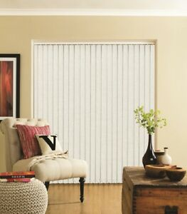 White Dim-out Replacement Vertical Slats  (89mm) - Splash Paper