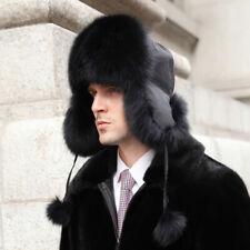 BLACK Fox pelliccia e tessuto impermeabile Russo Cappello di pelliccia d09ff63f61c7