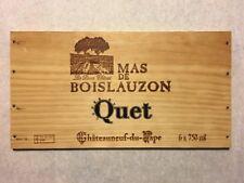 1 Rare Wine Wood Panel Mas De Boislauzon Vintage CRATE BOX SIDE 4/18 488