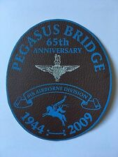 PEGASUS BRIDGE 65TH ANNIVERSARY 6TH AIRBORNE DIVISION 1944-2009 SMALL LEATHER PA