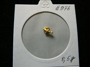 0,5 Gramm Goldnugget Nugget Gold  Australien Unikat # 976