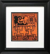 "Keith Haring ""Crack Down!"" CUSTOM FRAMED Print Art POP Urban"