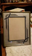 Vintage metal frame with art deco matting