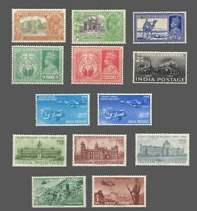 India    Sc. $ (see below) MNH-MLH   'ODDs & ENDs  1931-58  Cat.$25.00