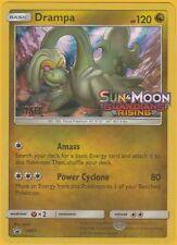 Pokemon Drampa SM21 Sun & Moon Guardians Rising Prerelease STAFF Promo FOIL NM!!