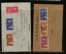 St Christopher and Leeward islands 1937 coronation covers Ms0116