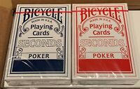 BICYCLE 7808 SECONDS Spielkarten Poker 52 Blatt 2 Standard Index Kartenspiel