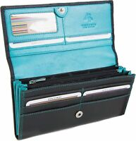 Visconti Women's Gift Boxed RFID 9 Card Leather Clutch Purse Wallet CD21