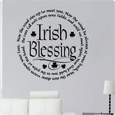 "24"" Irish Blessing May The Road Rise Up To Meet You Wall Decal Sticker God"