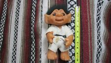 "VINTAGE THOMAS DAM 9"" KARATE/FIGHTER TROLL DOLL MADE IN DENMARK 1977"