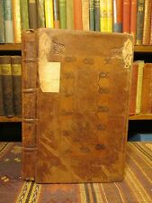 1714 Marshall PENITENTIAL DISCIPLINE OF THE PRIMITIVE CHURCH Rare Leather Book