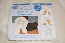 "12 White 8"" Large Wedding Pull Bow Pew Bridal Gift Cake"