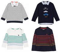 Jasper Conran Kids Boys White Navy Red Cotton T shirt Jumper Sweater Top 3 4 5 6