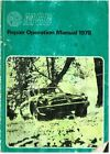 MG MGB ROADSTER & GT COUPE (RUBBER BUMPER) 1978-79 ORIG. FACTORY WORKSHOP MANUAL