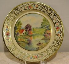 """Vintage Daher  Decorated Ware Tin Plate with  Flowers 8"""""""
