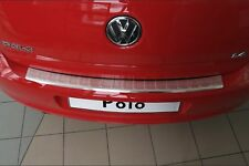 2009-2016 VW Polo 6R HB Chrome Rear Bumper Protector Scratch Guard S.Steel