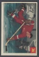 1954-55 Parkhurst Detroit Red Wings Hockey Card #36 Alex Delvecchio