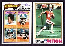 1982 Topps Football Team Set - DENVER BRONCOS 16 Cards NM-MT