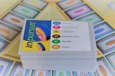 Trivial Pursuit InPursuit replacement game pieces - qty 100 cards