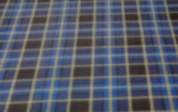 60 Inch Width Blue Check  Polar Fleece, Material,Fabric,Soft And Washable