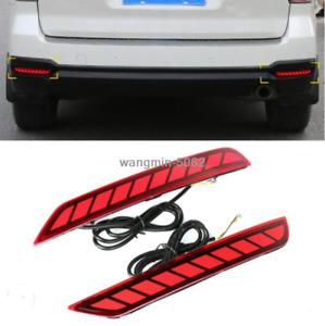 LED Rear Fog Light Tail Bumper Light 2PCS For 2009-2018 Subaru Forester