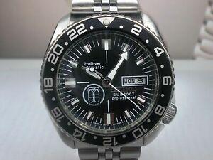 VINTAGE SEIKO DIVER 6309-7290 BLACK PRODIVER MODDED AUTOMATIC MENS WATCH 745876