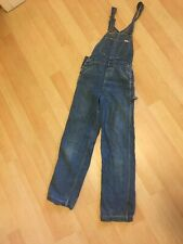 Vintage 70's Lee Overalls Coveralls Sz 34 Workwear Denim Union Made In Usa