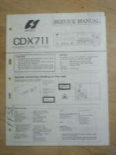 Sansui Service Manual for the CD-X711 CD Player   mp