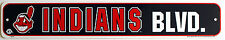 Licensed MLB Plastic Sign Cleveand Indians Avenue Sign