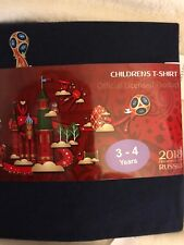 Russia FIFA World Cup 2018  England Children's 3  to 4 Years Navy  T Shirt