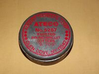 VINTAGE AUGUST THOMSEN CORP ATECO NO. 5257 9 NESTED ROUND BISCUIT CUTTERS IN CAN