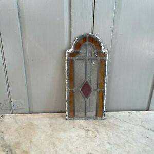 Small piece of antique stained window glass
