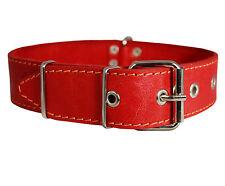 """Genuine Leather Dog Collar Rich Pattern Texture 19""""- 24"""" neck German Shepherd"""