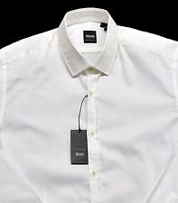 Men's HUGO BOSS White LORENZO Shirt 2XL XXL NWT NEW $145+ Regular Fit Nice!