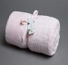 Baby Girls Pink Popcorn Fleece Cot Pram Blanket Wrap