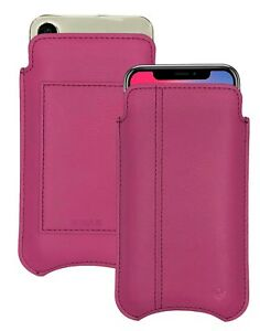 iPhone 11 Pro Case   iPhone Xs Case RED Leather NueVue SANITIZING Wallet Sleeve