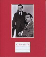 """Details about  /Sheldon Harnick Autograph Sketch AMQS """"If I Were A Rich Man"""" Signed 8x10"""