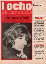 ▬► ÉCHO ACTUALITÉS Programmes TV Août 1968 - Belphégor Juliette GRÉCO - BAMBUCK