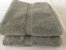 Two Ralph Lauren Cotton Hand Towels, olive green, made in USA