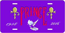 """PRINCE"" RIP Novelty Vanity License Plate, Exclusive Made With Pride In U.S.A."