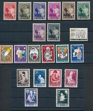 Belgium (1937-61) B189-196, B672-677, B699-704 Complete Sets & B687; All Mnh 00004000