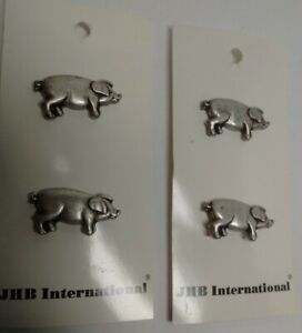 4 PIG SHAPED BUTTONS-MADE IN ITALY