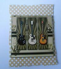 PK 2 GUITARS EMBELLISHMENT TOPPERS FOR CARDS AND CRAFTS