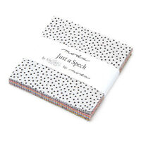 "CHARM PACK~JUST A SPECK~MODA FABRICS~42-5"" SQUARES~JEN KINGWELL DESIGNS~DOTS"
