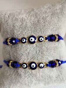 2pcs, friendship bracelets or anklets, evil eye bracelet, protection bracelet