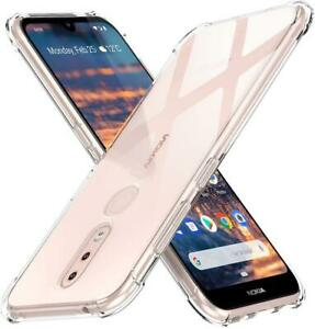 For Nokia 2.4 Case Slim Clear Silicone Shockproof Gel Phone Cover + Screen Guard